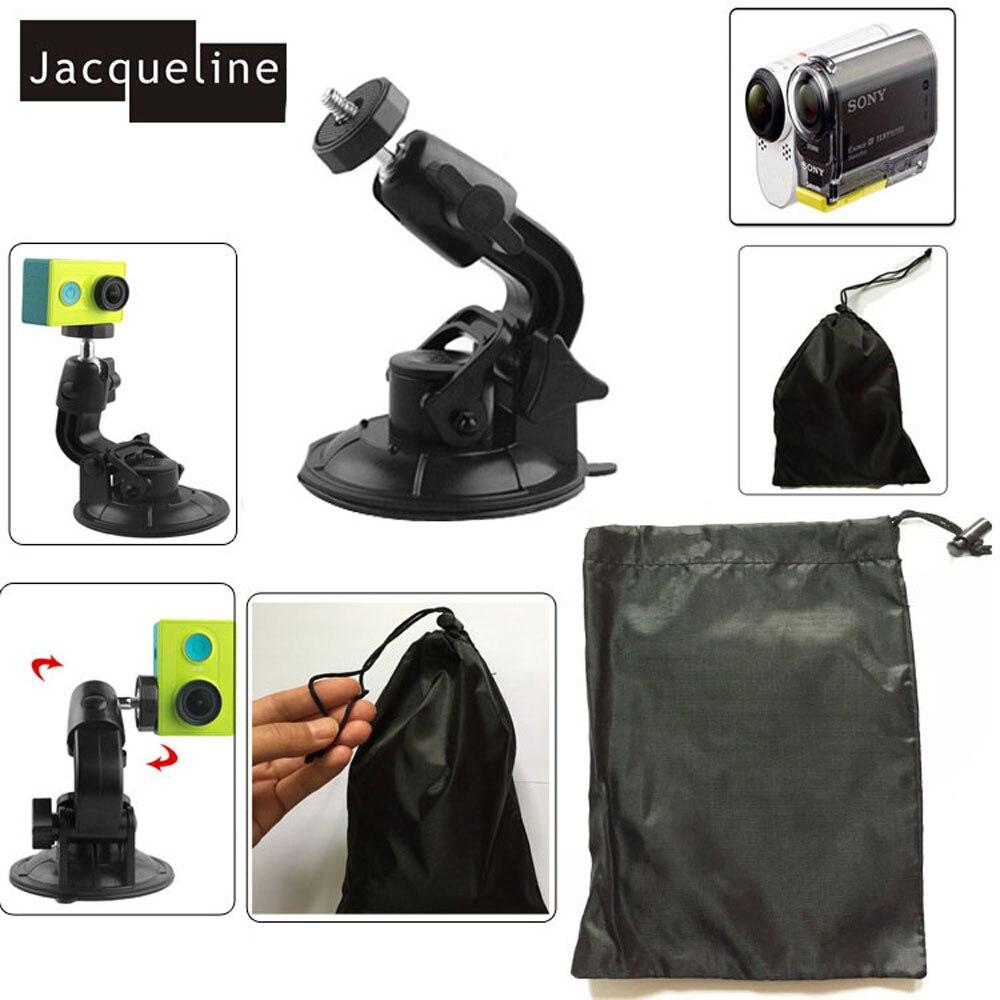 Jacqueline para taza de la succión del coche del lechón del sostenedor para Sony acción CAM AS200 FDR-X1000V W 4 K AS30V AS100V AZ1 para Yi acción