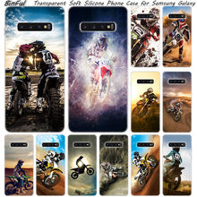 Moto cross moto rcycle sportowe silikonowe etui do Samsung Galaxy S10 S9 S8 Plus S7 krawędzi A6 A8 Plus A7 A9 2018 A5 2017 moda pokrywa(China)
