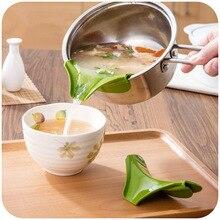 Креативный залейте горшок клип пищевая заливка дефлектор силиконовый заливающий носик для сковородки и миски залейте суп анти-разлив и утечка супа дефлектор