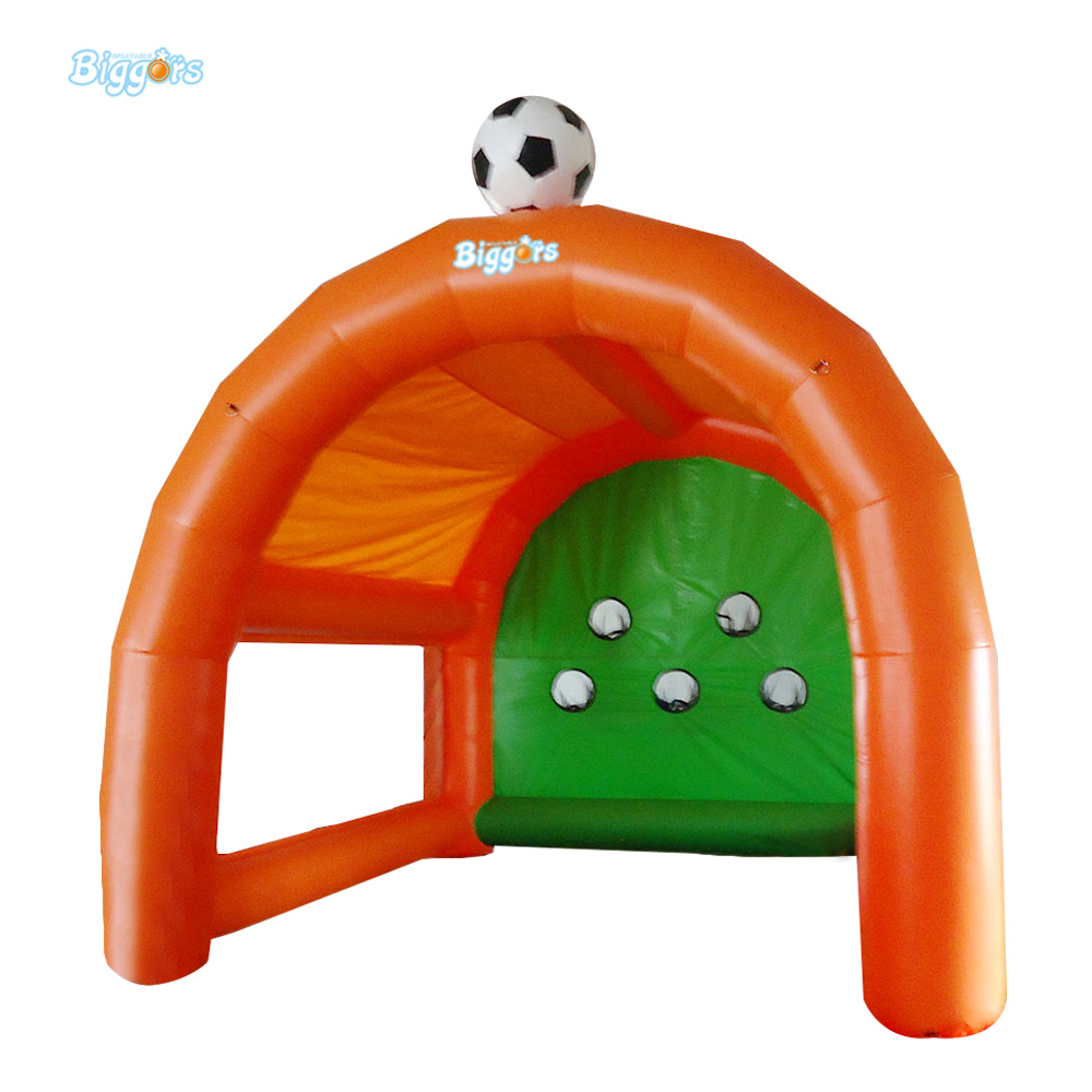 Hot Sale Sports Games Five Holes Inflatable Football Course Inflatable Soccer Dart 4*2*3m Dart For Event kelme hot sale white children soccer shoes rubber all seasons sport training football boots