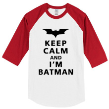 2017 summer T-shirt Keep Calm And I'm Batman harajuku casual men's T-shirts brand clothing top hip hop raglan t shirt crossfit
