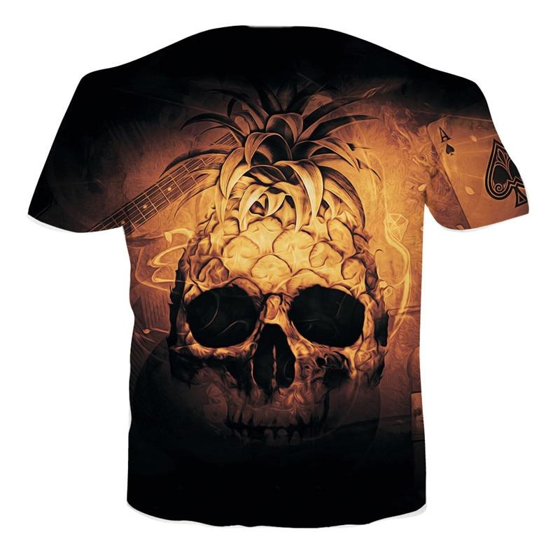 Mans T-shirt Fathers Day Comfortable Top Marcelo Burlon T Shirt Pineapple Shirt Skull Compression Spain Shirt T-Shirt Dropship