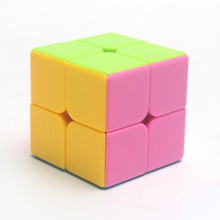 Color second-order magic square free stickers solid color match Cube 2-stage never fade send tutorial