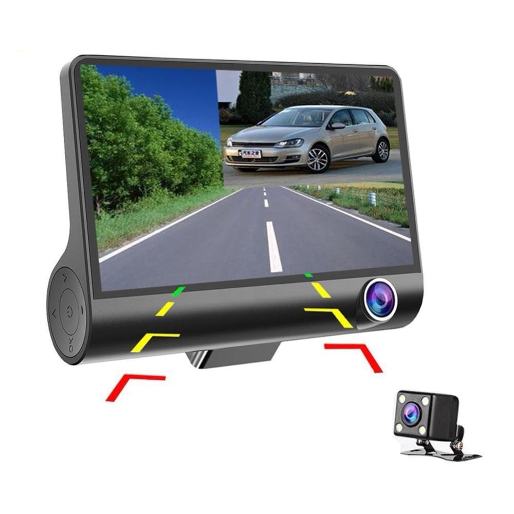 4 zoll Auto DVR Kamera Dashcam Dual Objektiv Cam 1080 p Volle HD Video Registrator Recorder Rück Kamera G- sensor DVR