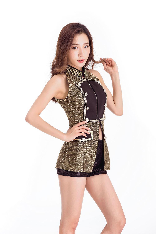 T-ara Korean Ensemble Sexy Show Dress Bar DS Sexy Show Dress Nightclub DJ Female Singer Jazz Lead Dress Opening Dress