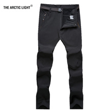 THE ARCTIC LIGHT Multi-function Pants Thermal Soft shell Hiking Camping 7XL Waterproof Outdoor Fleece Trousers For Men