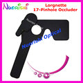 205E Professional Ophthalmic Lorgnette 17 Pinhole Black Plastic Vision Test Eye Occluder Free Shippping