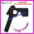 205E profissional oftálmica Lorgnette 17 teste de visão oclusor Pinhole plástico preto livre