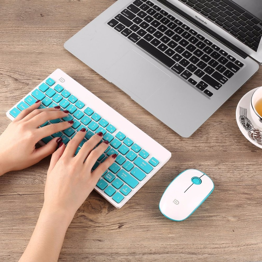 forter mini wireless keyboard mouse combo set usb 2 4ghz 1500dpi ultra thin gaming multimedia. Black Bedroom Furniture Sets. Home Design Ideas
