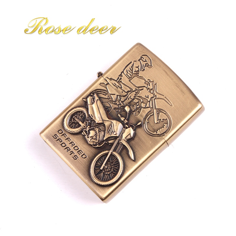 Metal attached present hell detective Motorcycle kerosene lighter Windproof Smoking konstantine Vintage Style oil Lighter