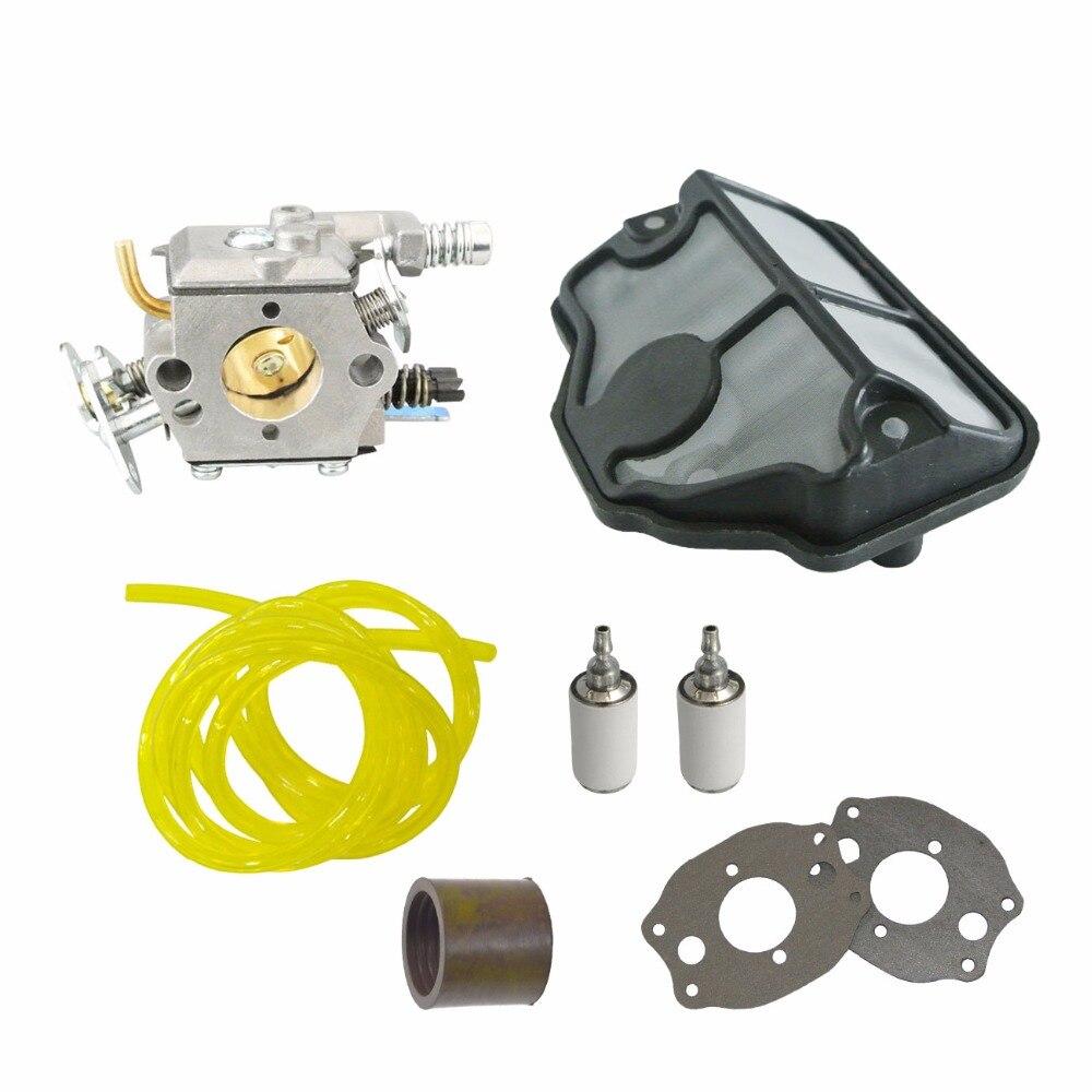 Carburetor Air Fuel Filter Line Fit Husqvarna 142 136 137 36 41