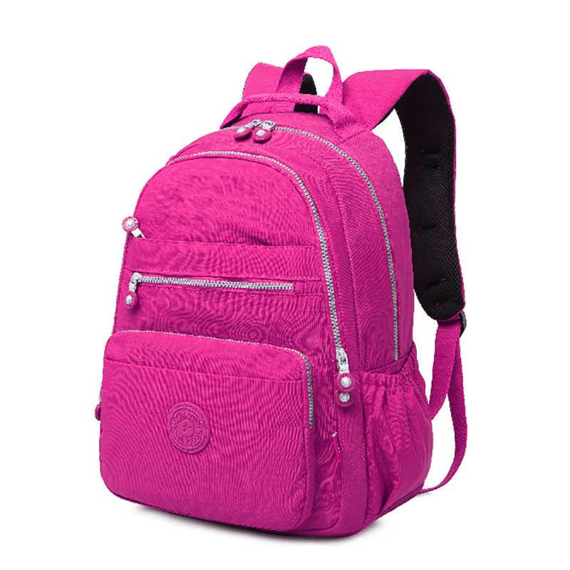 TEGAOTE School Backpack for Teenage Girl Mochila Feminina Women Backpacks Nylon Waterproof Casual Laptop Bagpack Female