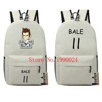 Christian Bale Student Anime Letter Bags Book Backpacks Foot Ball Oxford Kids Travel Bag Teenages School Bags Mochila Feminina