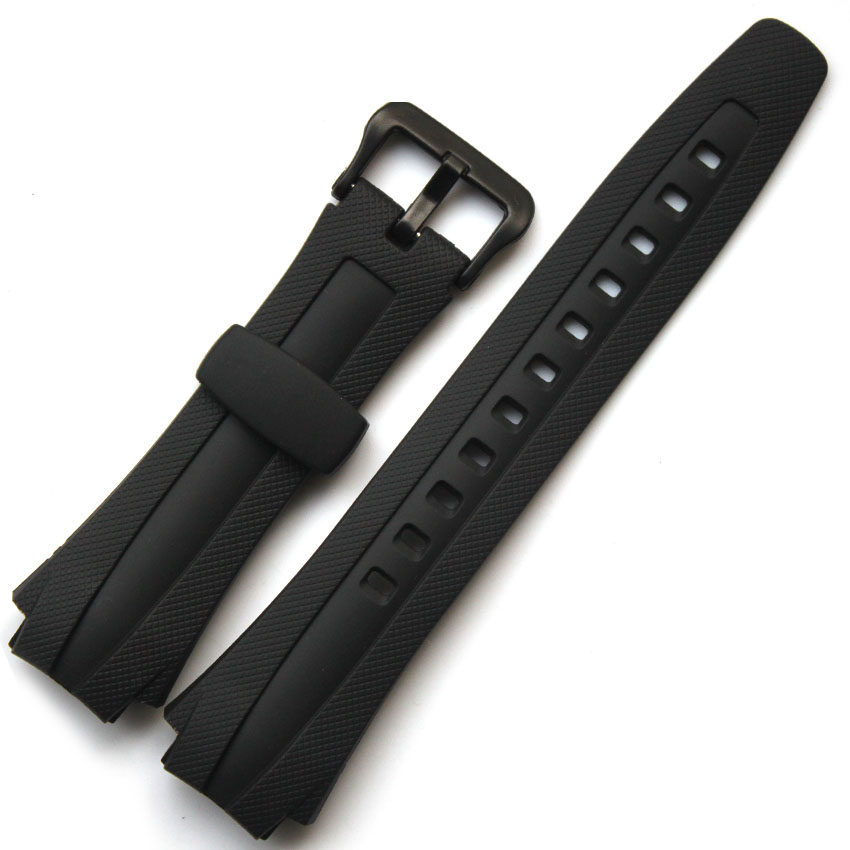 Original Watchband black silicone rubber bracelet for Casio AQ 160 AQ 163 font b watches b