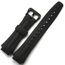 Original Watchband black silicone rubber bracelet for Casio AQ-160/AQ-163 watches accessories