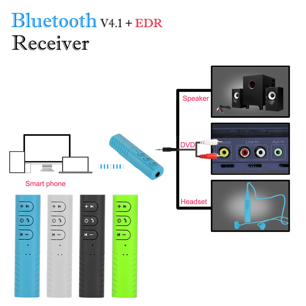 Wireless Bluetooth V4.1 3.5mm  Audio Stereo Music Home Car Receiver Adapter
