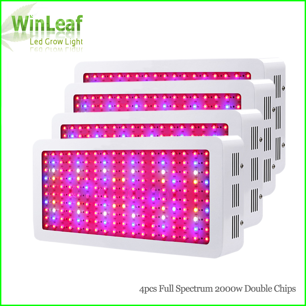 4pcs Full Spectrum LED Grow Light 2000W Double Chips White Plant Lamp for Greenhouse Tent Hydroponic Led Grow Light led grow light 450w greenhouse lighting plant growing led lights lamp hydroponic indoor grow tent high par value double chips