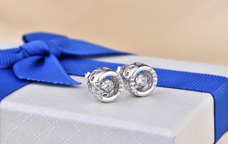 for 925 sterling silver earrings stud vintage jewelry DE72520A (3)