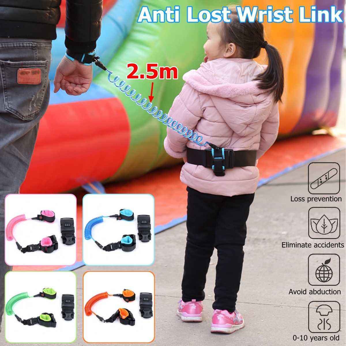 Anti-lost Wrist Link For Kids Adjustable Password Safety Waist Belt Link