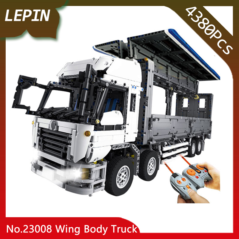 Lepin 23008 The MOC Wing Body Truck Technic Series 4380Pcs Educational Building Block Bricks Children Toys Gift 23008 4380pcs technical series the moc wing body truck set compatible with 1389 educational building blocks children toys