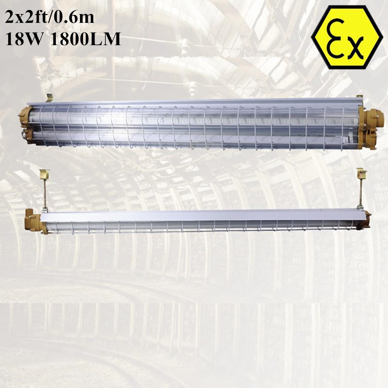 ATEX Explosion Proof Led Tube Light 2FT 4FT 18W 36W Zone 1 Zone 2 AC110V 220V 240V ATEX Explosion Proof LED Linear Light
