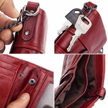 Genuine Leather Female Wallet Small Wallet Women Purse Fashion Money Wallet Women id Card Holder porte feuille femme 6