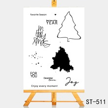 AZSG Strong pine Clear Stamps For DIY Scrapbooking Rubber Stamp/ Seal Paper Craft Stamp Card Making