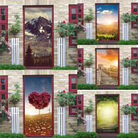 Nowy 3D Duże Naklejki Ścienne Naklejka Art Decor Vinyl Zdejmowane Ścienne Plakat Sceny Okna Drzwi 3RL21 Hurtową Bezpłatną Wysyłkę
