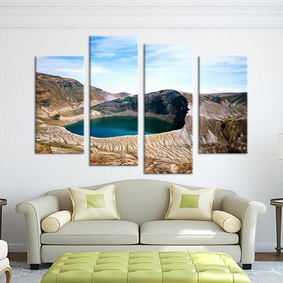 4 panel de beste wereld moderne olieverfschilderij voor interieur ideen schildert op muur foto pop art