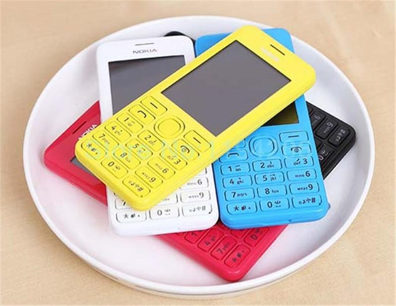 new smart phone Nokia 206 2060 2G GSM 1.3MP 1100mAh Unlocked Cheap Celluar Phone dual sim card blue 6