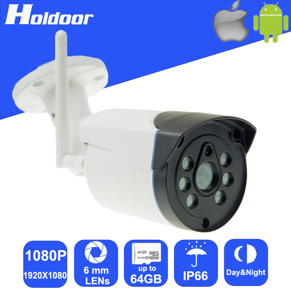 Wireless P2P IPC 1080P 6mm Lens Security video surveillance Outdoor Camera Night Vision Motion Detection Alarm Email Alert Onvif hbss 16ch full hd night vision motion detection onvif 1920 1080p p2p poe fixed lens email alarm indoor security system