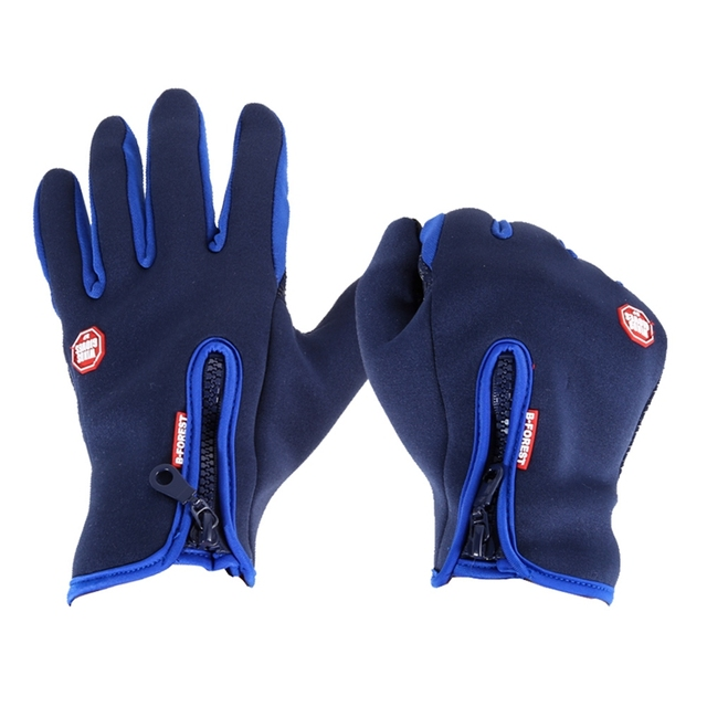 Winter Outdoor Sport Gloves Windproof Warm Waterproof Men Women Touch Screen Fleece Cycling Gloves Full Finger Bicycle Gloves