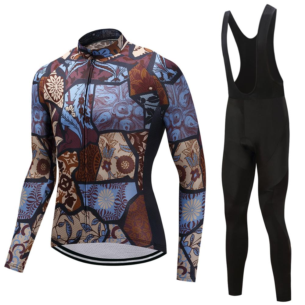 FUALRNY 2018 Pro Flier Winter Thermal Fleece Cycling Jersey Set For Men Long Sleeve Bicycle MTB Bike Wear Maillot Ropa Ciclismo
