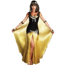 Deluxe Queen of the Pyramids Cleopatra Dress Costume Diosa Egipcia de Halloween Cosplay Disfraz CS1088