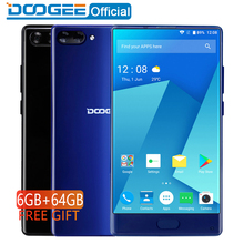 "DOOGEE MIX 6GB+64GB bezel-less Smartphone Dual Camera 5.5"" AMOLED MTK Helio P25 Octa Core mobile phones Android 7 In Stock"