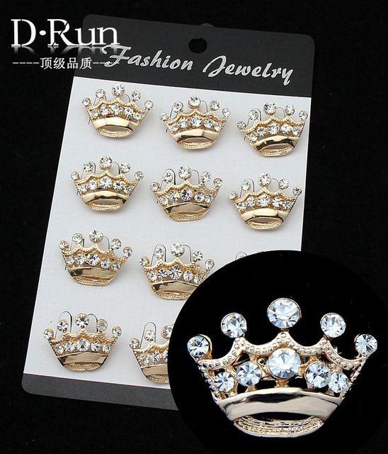 Mini crown pin broche lenço clipe para mulheres jóias borboleta convite
