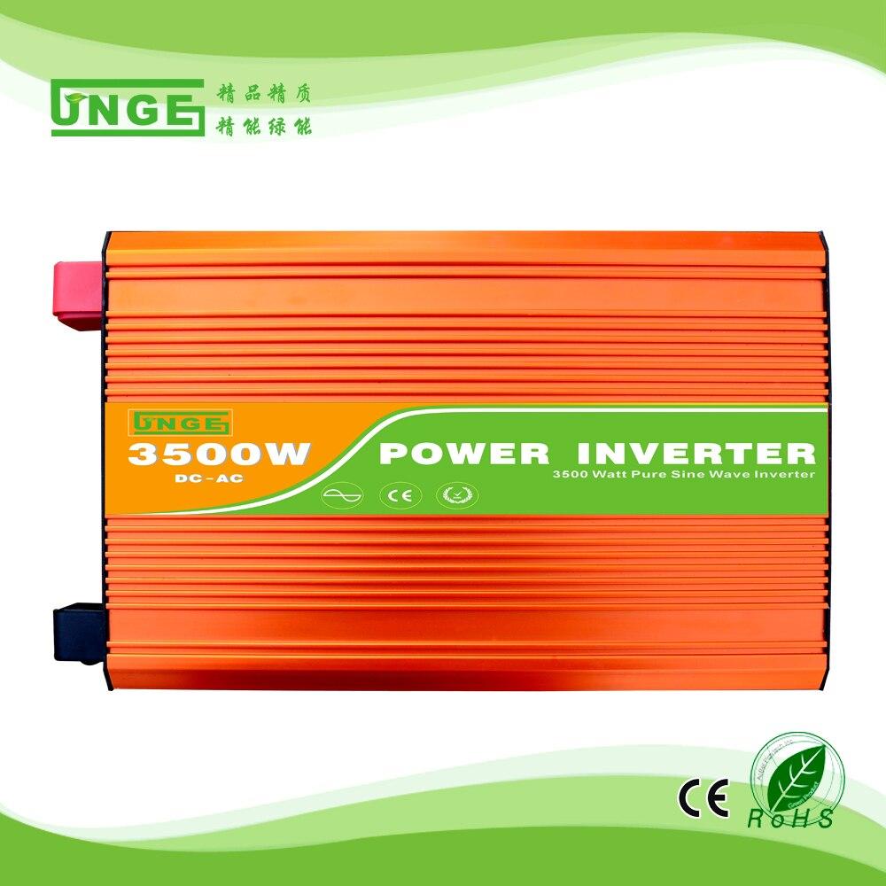 3.5KW/3500 W 12/24/48 V à 100/110/120/220/230/240VAC 50/60Hz usage domestique haute fréquence onde sinusoïdale pure hors réseau onduleur