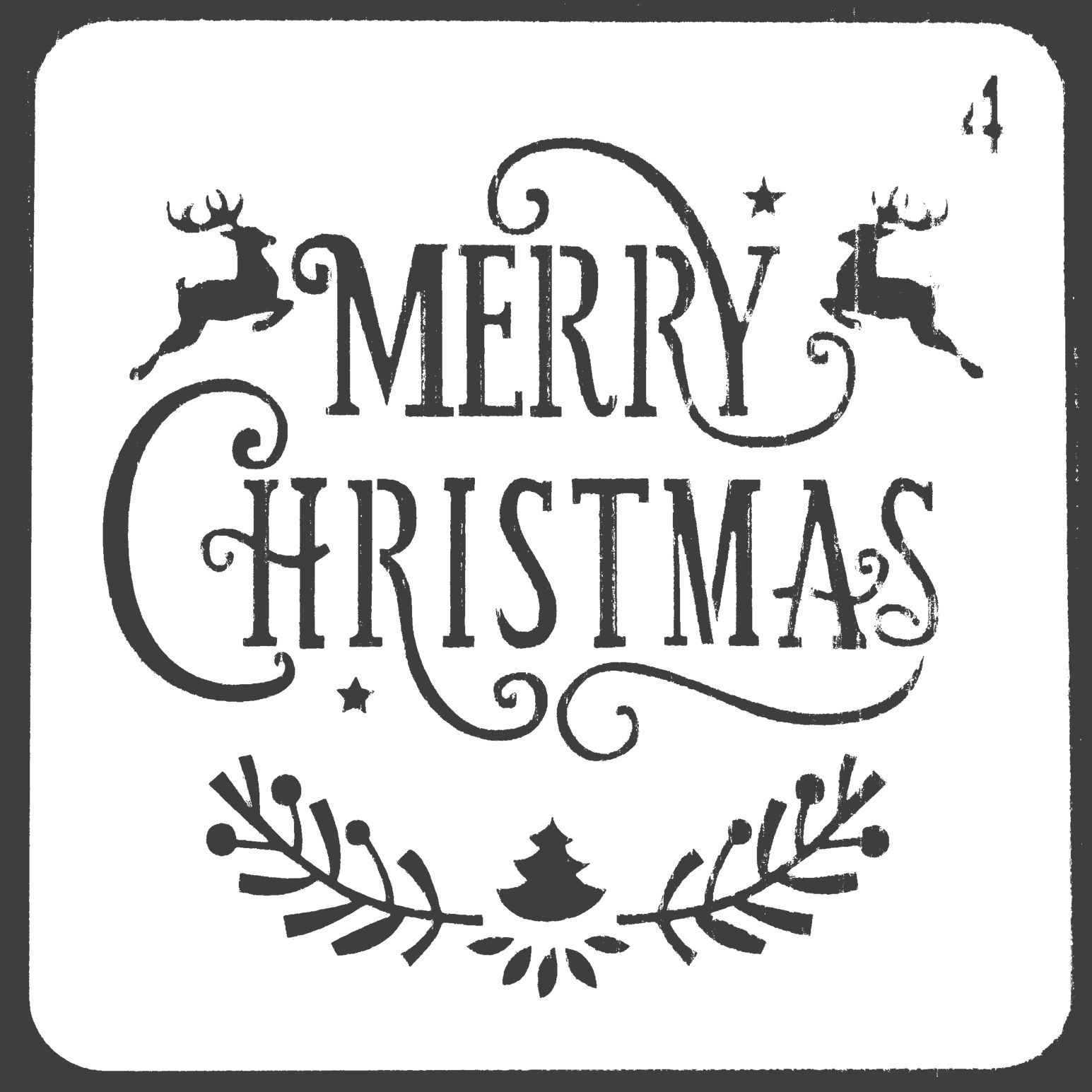 Merry Christmas Letter Stencils For Painting Scrapbooking Stamp Cake Decorating Tool Embossing Paper Cards Album DIY Decoration