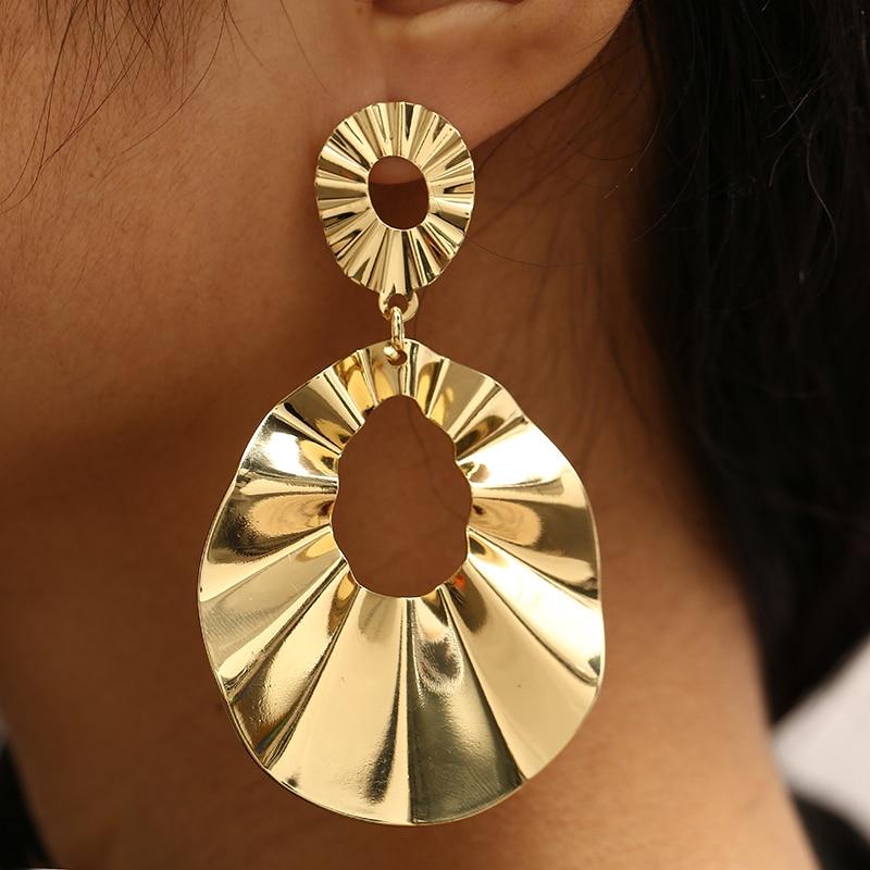 CHENFAN korean bijouterie bohemian earring Trendy golden silver dangling earrings for women 2019 fashion jewelry Tiktok