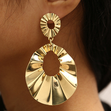 CHENFAN korean bijouterie bohemian earring Trendy golden silver dangling earrings for women 2019 fashion jewelry Tiktok