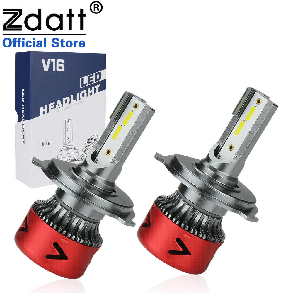 2Pcs Zdatt Super Bright Car Headllight H7 LED H4 LED Bulb H1 H11 HB3 9005 9006 100W 10000LM 6000K Fog Light 12V/24V Auto Lamps