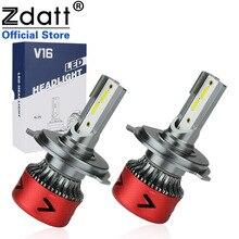 Zdatt 2Pcs H7 LED Headllights H4 Bulb H1 H11 HB3 9005 9006 Super Bright Lamp 100W 10000LM 6000K Fog Lights 12V/24V Auto