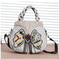 New Coming Vintage Appliques Handbags Hot Fashion Multi Use Women S Small Bags Hot Shopping Lady