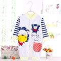 Outono Roupas de Bebê menino meninas roupas de Bebê Recém-nascido de Banda Desenhada Macacão Infantil algodão Manga Comprida Macacões Primavera Roupas Desgaste