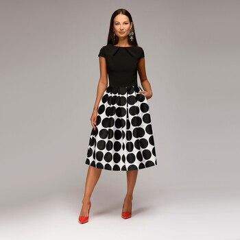 Women Dot Print Summer 2018 Casual Dress 1