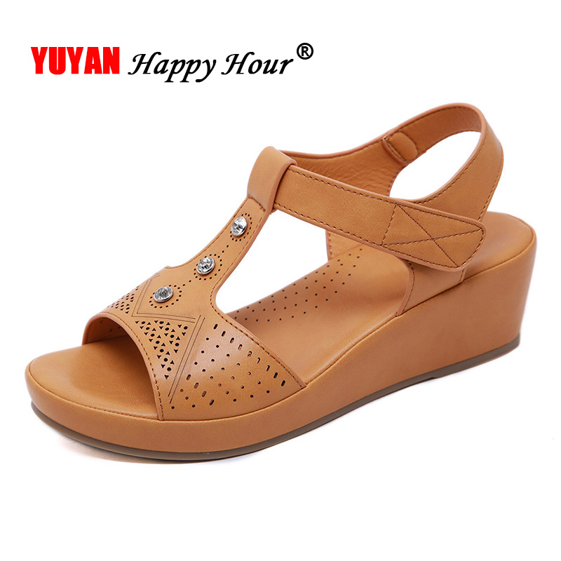 Wedge Sandals Shoes Women A1512 Ladies Female Casual Plus-Size