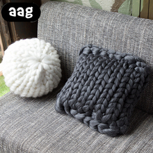 AAG Creativity Chunky Thick Line Pillow Handmade Knotted Knot Ball Home Decoration Couch Cushions Round Wool Pillow Ball Toys цена