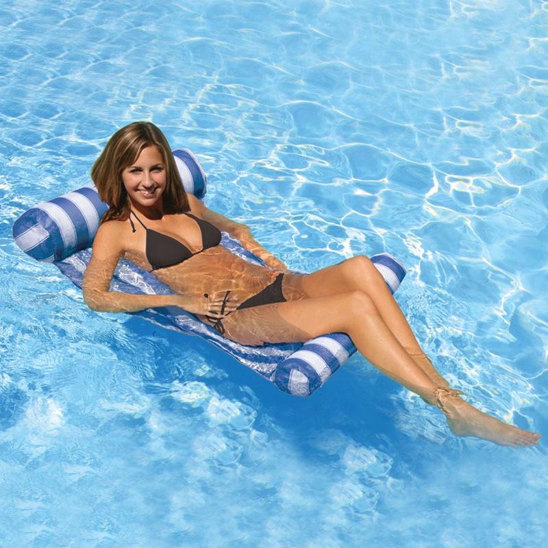 Vilead Новый американский полоса воды гамак ПВХ сна Палатки бассейн шаблон строки Lounge надувные воздушные плавающей кровать для пляжа Одежда з...
