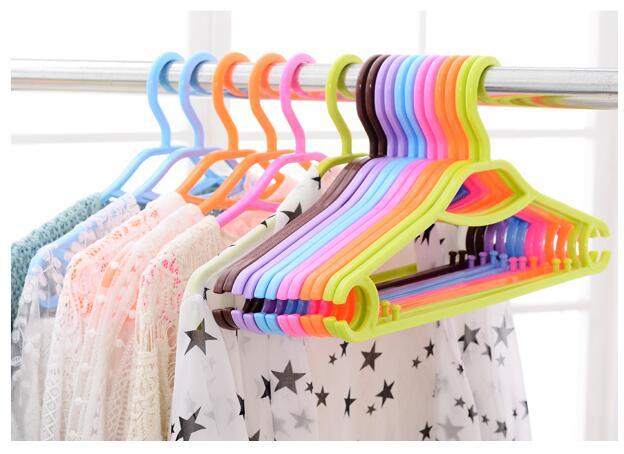 Sainwin 10pcs/lot 41cm Plastic non-slip hanger clothes rack dults plastic hangers for clothes