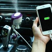 12 V רכב קיטור לרכב משודרג מטהר אוויר מכשיר אדים מפזר ניחוח מטהר יצרנית ערפל Fogger עם 2 מטען USB חיוני נמל